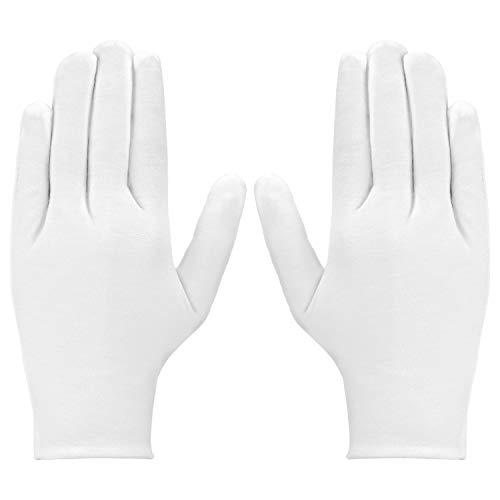 Luter 3 coppie Guanti di cotone bianchi Guanti di stoffa da donna per Eczema, mani asciutte,...