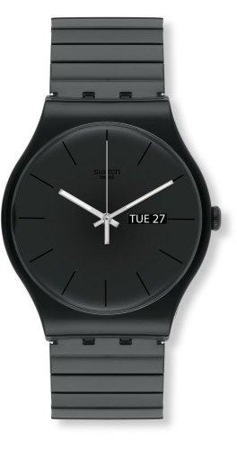 Swatch Unisex Erwachsene Digital Quarz Uhr mit Plastik Armband SUOB708A