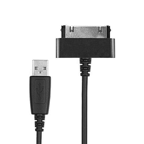 CELLONIC Cavo USB dati (1.0m) compatibile con Samsung Galaxy Note 10.1 Tab 8.9 Tab 2 7.0 Tab 2 10.1 GT-N8000 GT-P3100 GT-P5100 (Connector (30 Pin) a USB A (Standard USB)) cavo ricarica nero