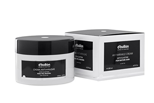 D'Bullón Crema Facial Antiarrugas con Elastina, Piel Madura, Anti Edad, 200 ml