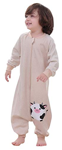 luyusbaby Early Walker Baby Sleeping Bag with Sleeve Organic Cotton Wearable Blanket