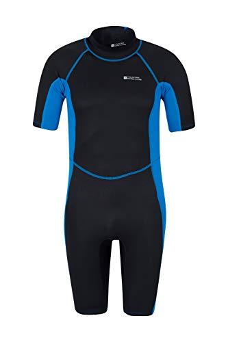 Mountain Warehouse Shorty Herren-Tauchanzug in voller Länge - bequemer, einteiliger Neopren-Surfanzug, leicht schließender Reißverschluss - für Sommerferien, Tauchen Kobalt Medium/Large