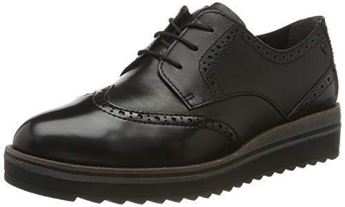 Tamaris 1-1-23729-23, Zapatos de Cordones Derby para Mujer, Negro (Black/Black 65), 39 EU