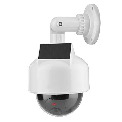VBESTLIFE Telecamera fittizia di Sicurezza, Telecamera Solare a Cupola realistica per Interno ed Esterno per casa/Magazzino