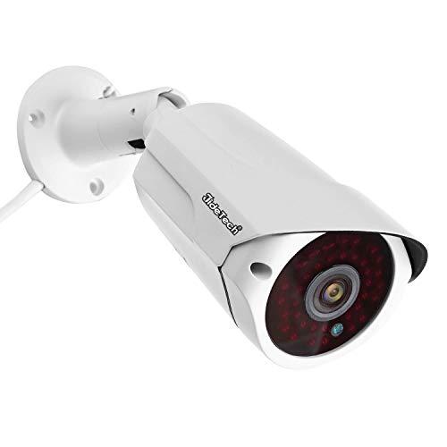 Telecamera di sicurezza IP 5MP, telecamera di sorveglianza esterna POE (Power Over Ethernet), allarme di rilevamento del movimento, visione notturna a infrarossi impermeabile IP66 65FT / 20m