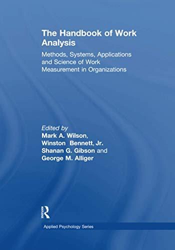The Handbook of Work Analysis (Applied Psychology Series)