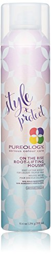 Pureology Style + Protect On The Rise Root-Lifting Hair Mousse | Medium Control, All Day Volume | Vegan | 10.4 oz.