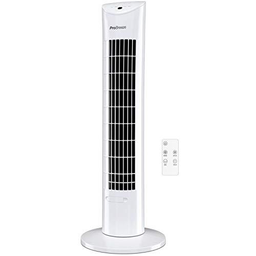 Pro Breeze Ventilador de Torre Oscilante Silencioso 60W con...