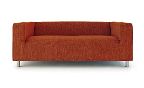 TLY, Copridivano per divano a 2 posti Klippan di Ikea, aderente Arancione