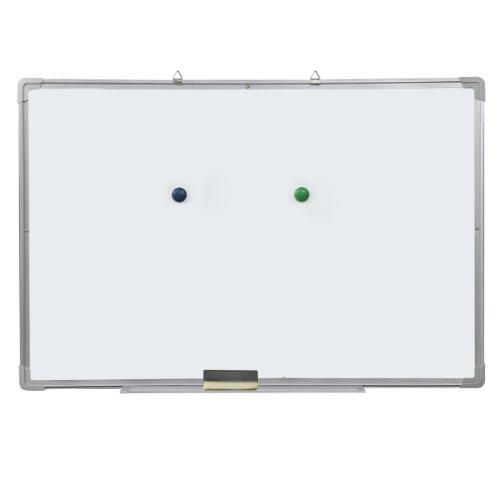 Accessotech - Lavagna magnetica cancellabile a secco e cancellino, per avvisi, promemoria, disegni,...