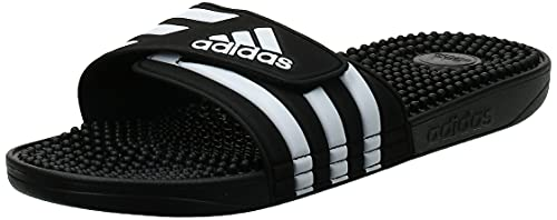 Adidas Adissage Zapatos de playa y piscina Unisex adulto, Negro (Negro 000), 44.5 EU (10 UK)