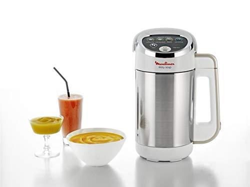 Moulinex Easy Soup Blender Chauffant, Robot cuiseur, Double Paroi, Capacité 1,2 L, Soupe, Velouté, Compote, Smoothies, Maintien au Chaud, 1000 W, 5 Programmes Automatiques LM841110