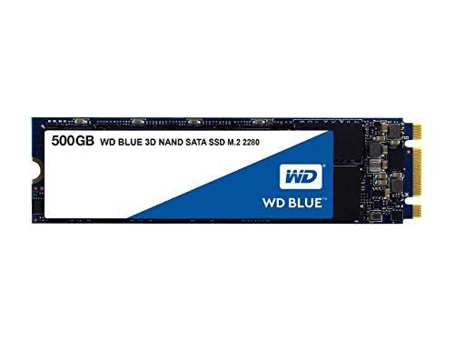 WD Blue 3D NAND 500GB Internal PC SSD - SATA III 6 Gb/s, M.2 2280, Up to 560 MB/s - WDS500G2B0B