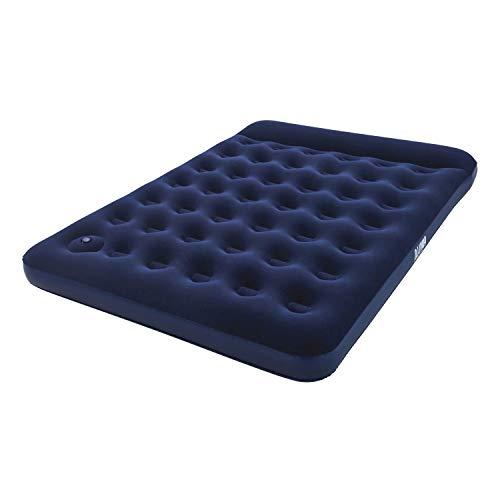 """Pavillo aufblasbares Doppel-Luftbett \""""Blue Horizon Step\"""" für zwei Personen mit eingebauter Fußpumpe 203x152x28 cm"""
