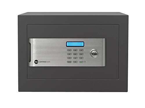 Yale Safe YSM/520/EG1Hochsicherheitstresor mit Elektronischem Schloss und Schlüsseln, Anthrazit, grau, YSM/250/EG1