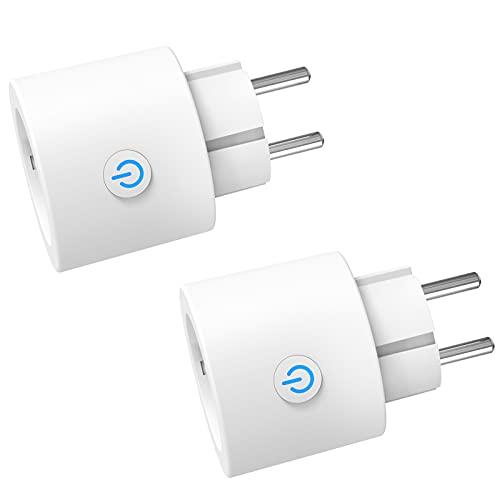 ANTELA Enchufe Inteligente WiFi Mini Con Monitor de Energía, No...