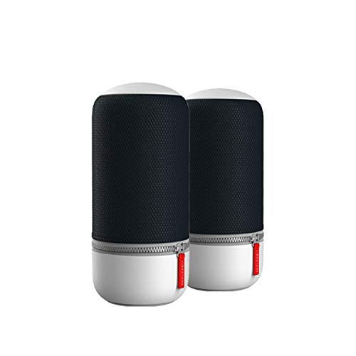 Lot de 2 ZIPP MINI 2 Libratone multi-pièces, enceinte portable sans fil intelligente (Alexa, AirPlay 2, son 360°, WLAN, Bluetooth, Spotify Connect, autonomie de 12 heures) – Stormy Black