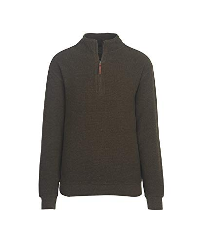 WOOLRICH Herren Bromley Half Zip Sweater Sweatshirt, Mokka Heather,...