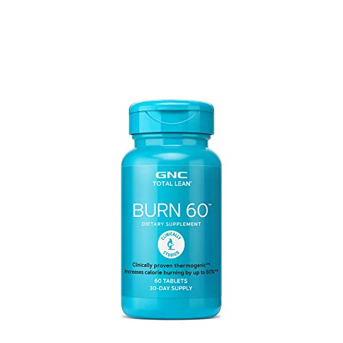 GNC Total Lean Burn 60 Thermogenic Fat Burner, Cinnamon, 60 Count, for Calorie Burning 1