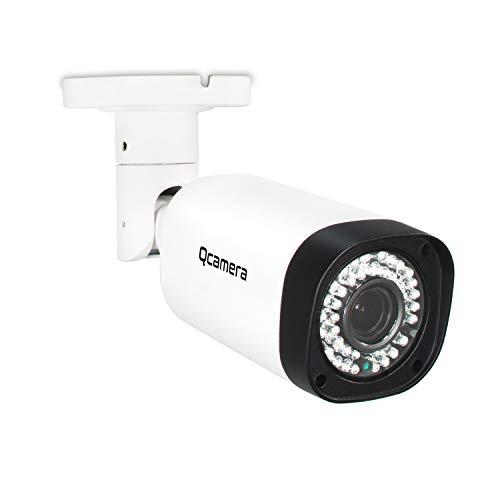 Q-camera Telecamera di Sicurezza Bullet 5MP 4 In 1 TVI/CVI/AHD/CVBS 1/2,5' Sensore 2.8-12mm Lente Varifocal Impermeabile 130Ft 42Leds IR Visione Notturna Sistema Di Sorveglianza Telecamera Per Esterni