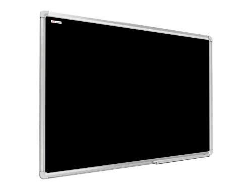 ALLboards Lavagna Magnetica Nera da Gesso Cancellabile a Secco Cornice in Alluminio Anodizzato |...