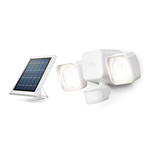 Introducing Ring Solar Floodlight  Outdoor Motion-Sensor Security Light, White (Ring Bridge required)
