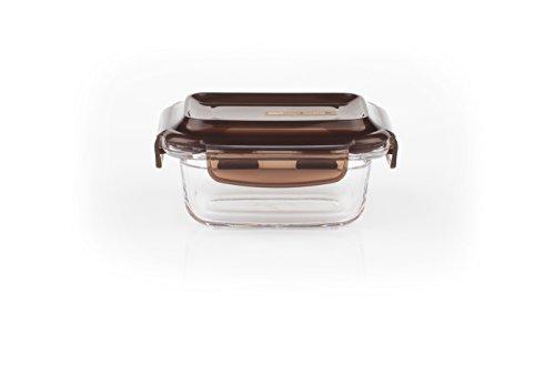Komax LOOK rectangular sealable glass food storage container 160 ml (5.4 fl.oz.)