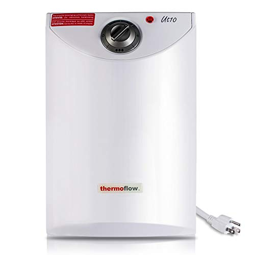 Thermoflow UT10 2.5 Gallons Electric Mini Tank Water Heater for Under Sinks 110V ~ 120V, 1.5kW Point of Use