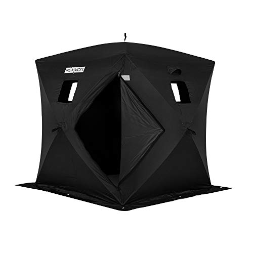 PEXMOR Ice Fishing Shelter, Pop-up Hub-Style for 2 Person, w/Portable Carrying Bag, Detachable...
