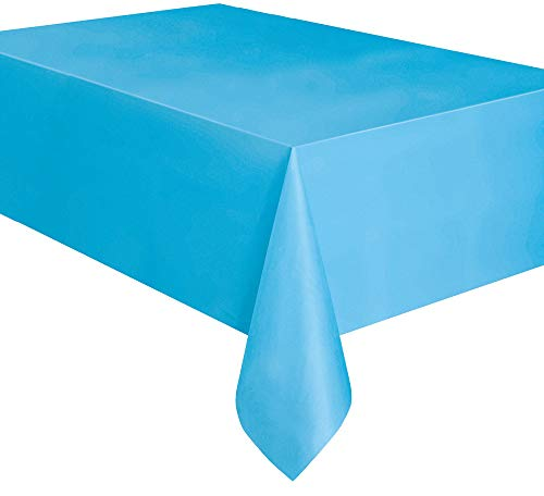Mantel de Plástico - 2,74 m x 1,37 m - Azul Claro