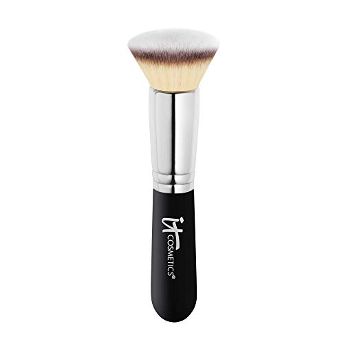 IT Cosmetics Heavenly Luxe Flat Top Buffing Foundation Brush #6 - For Liquid & Powder Foundation - Buff Away the Look of Pores, Fine Lines & Wrinkles - With Award-Winning Heavenly Luxe Hair