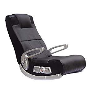 ALL PURPOSE GAMING CHAIR: Leather lounging game chair can be used for playing video games, watching movies and TV, listening to music, reading, and relaxing. IMMERSIVE MEDIA EXPERIENCE: Chair incorporates wireless audio transmission, two speakers nea...