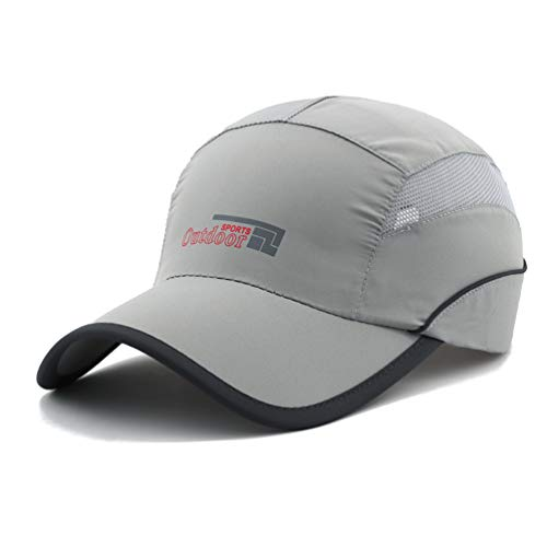 Gisdanchz Upf Hats for Women Running,Mens Summer Hat,UV Protection Breathable Outdoor Hats for Men Baseball Cap Running Fishing Hiking Sport Hat Under 10 Women Upf Quick-drying Caps Light Grey