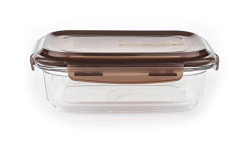 Komax LOOK rectangular sealable glass food storage container 880 ml (29.7 fl.oz.)