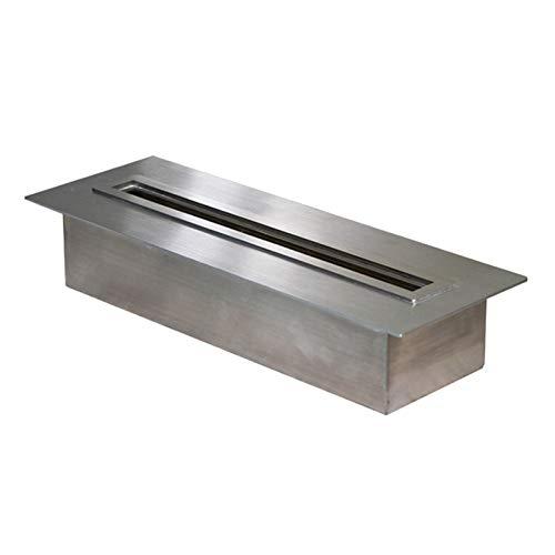 Ethanol Fireplace Space Heater, Burner Insert - Secure Burning System, PVD 304 Stainless Steel - Ethanol Fire Pit for Living Room/Balcony/Garden (Length: 50cm/100cm/120cm/150cm),Support Custom Size