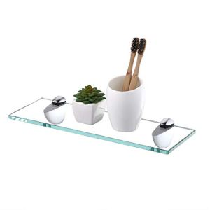 KES Bathroom Glass Shelf Shower Organizer Extra Thick Tempered Glass Zinc Alloy Wall Mounted Polished Finish, BGS3200S35