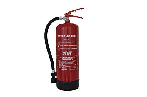 Feuerlöscher 6L Schaum AB mit Manometer, EN 3, Wandhalterung und ANDRIS® Prüfnachweis & ISO-Symbolschild Folie