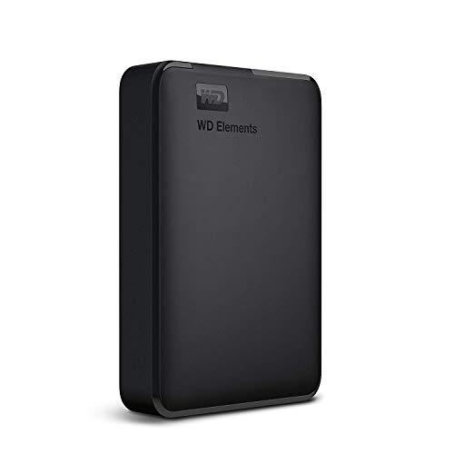 WD ポータブルHDD 5TB USB3.0 ブラック WD Elements Portable 外付けハードディスク / 2年保証 WDBU6Y0050BBK-WESN