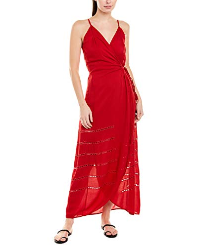 31spFohUBGL Long dress Deep V neckline Wrap front