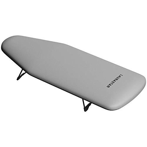 Laurastar Bügelbrett XS Board, 82cm x 31xm x 13cm, Ideal kleine Räume, Ein-und ausklappbaren Füß, 2Kg, 100 % Baumwolle, Bequeme Lagerung