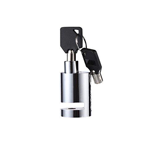 VGEBY Motorrad Bremsscheibenschloss, Mini Anti-Diebstahl Motorrad Sicherheitsscheiben Radschloss mit 2 Schlüsseln für Fahrrad Motorrad Roller