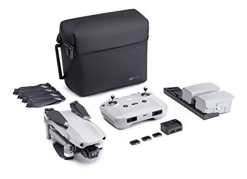 "DJI Mavic Air 2 Fly More Combo & Auto-Activated DJI Care Refresh Bundle-Drone Quadcopter UAV with 48MP Camera 4K Video 1/2"" CMOS Sensor 3-Axis Gimbal 34min Flight Time ActiveTrack 3.0, Gray (Renewed)"