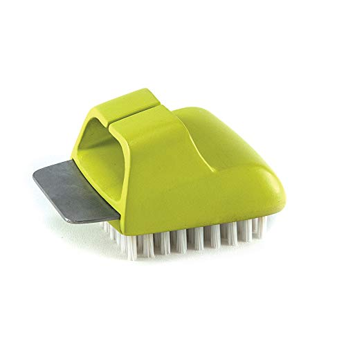 Charcoal Companion CC4108 HIMALAYAN SALT PLATE SCRUBBER BRUSH