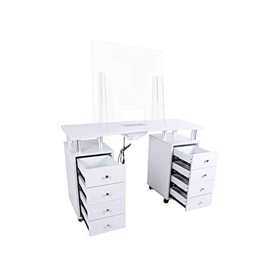 Tavolo per unghie manicure 8 cassetti con aspiratore elettrico Plexiglass nail set ricostruzione tavolino professionale...