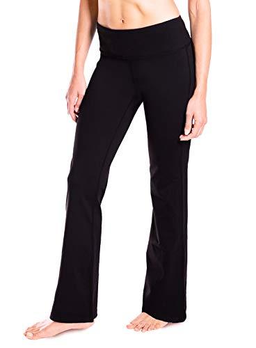 """Yogipace 27""""/28""""/29""""/30""""/31""""/32""""/33""""/35""""/37"""" Inseam,Petite/Regular/Tall, Women's Bootcut Yoga Pants Long Workout Pants, 31"""", Black Size XL 1"""