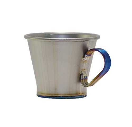 マーベリック(MAVERICK) チタン カップ カルデラ 100ml ブルー取っ手 日本製 食洗機対応 MVTC-CA-B