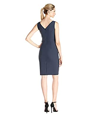 All over stretch Center back zip This style is available in Regular, Plus Size and Petite on Amazon.com