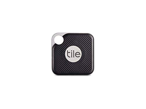 Tile Inc, Pro Black, Bluetooth Tracker and Finder, Water Resistant, Replaceable Battery, Easy to Attach for Keys, Pet Collars and Bags (1 Pack)