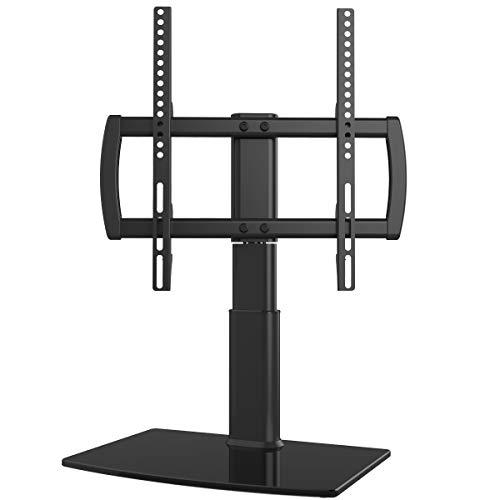 Supporto da Tavolo con Piedistallo Girevole Regolabile in Altezza per TV 27'-55' LCD/LED / Plasma