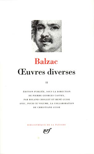 Balzac : Oeuvres diverses, tome 2